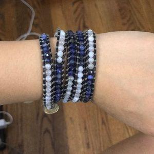 Chan Luu Wrap Bracelet blue